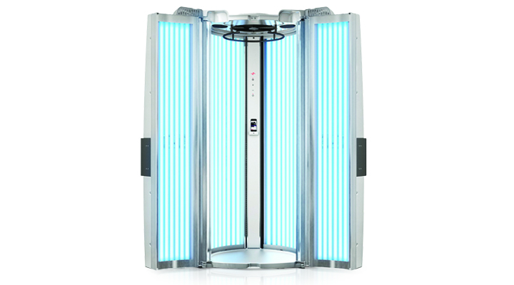 kuxura v 6 stand up tanning booth open