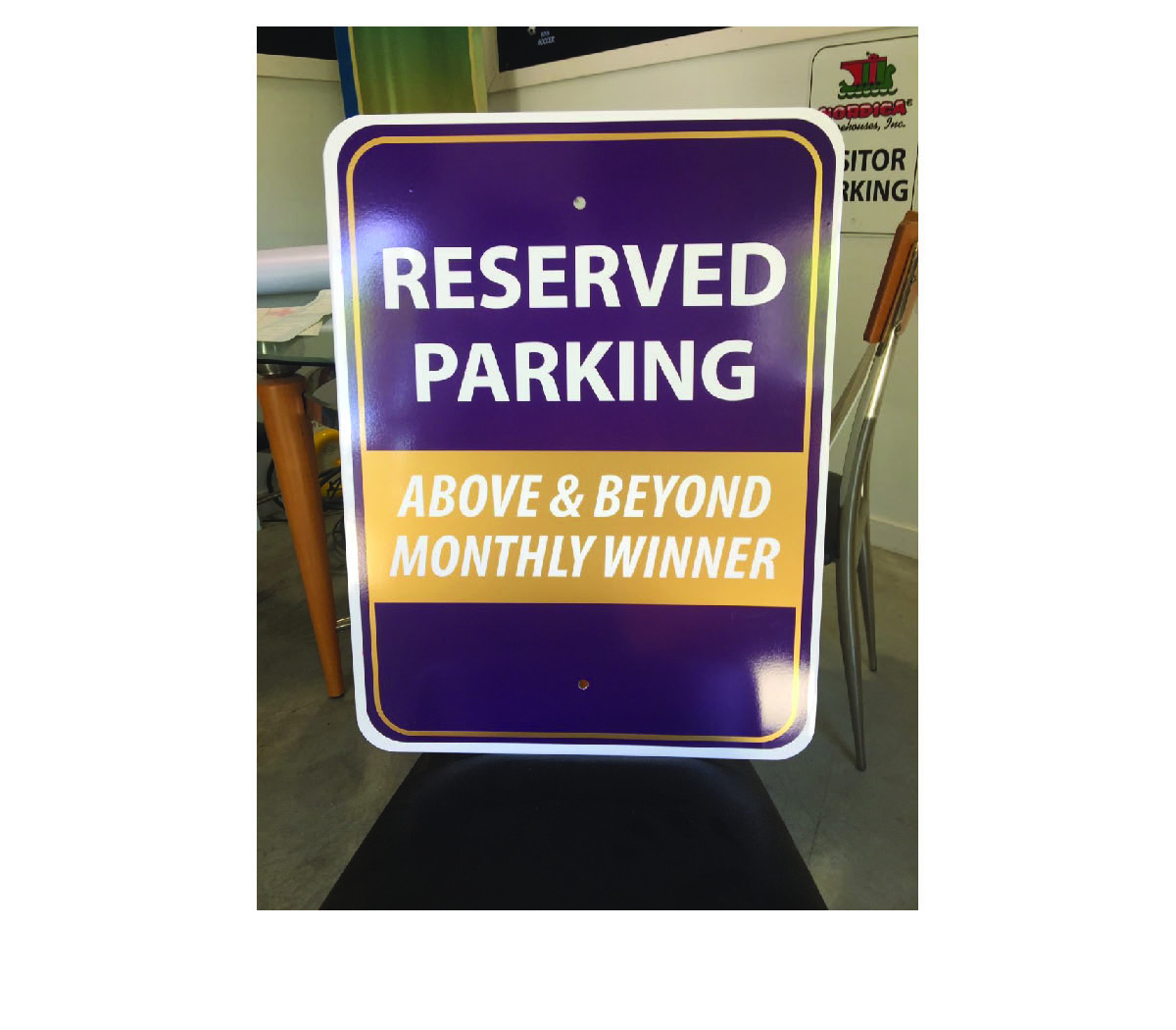 Custom Metal Parking Sign