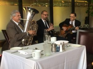 Jazz Brunch Trio with Clarinet, Guitar and Tuba