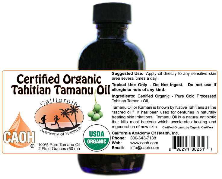 CAOH organic Tamanu OIl