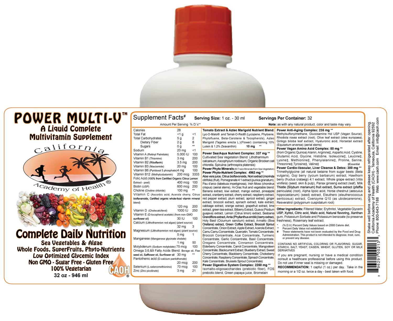 Sea vegetables and Liquid Power Multi-V