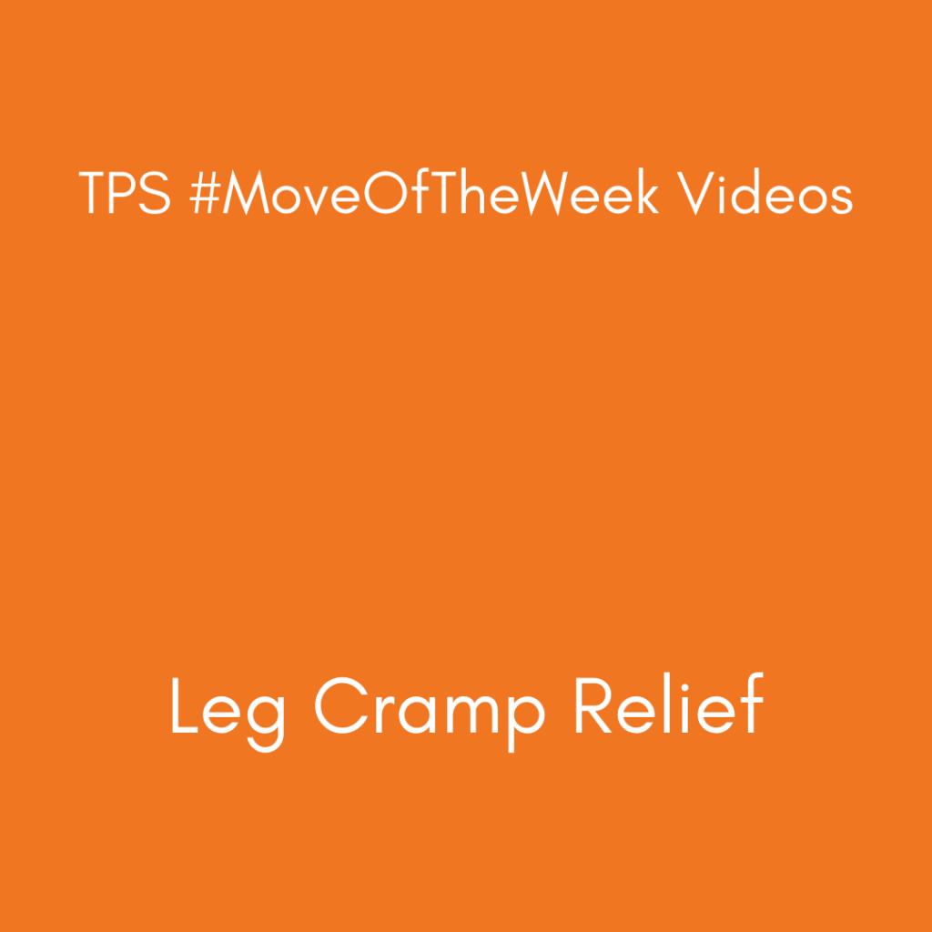 Leg Cramp Relief