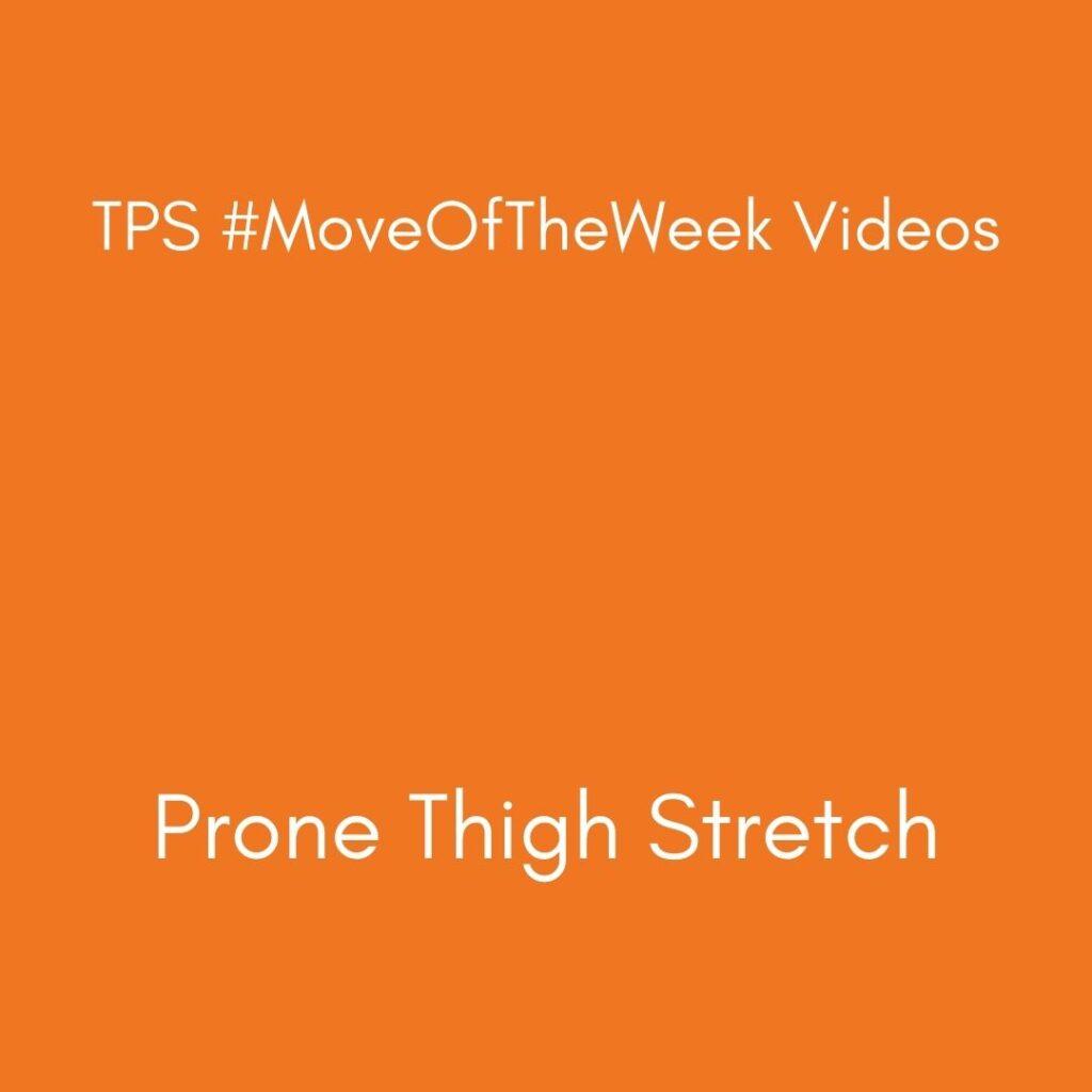 Prone Thigh Stretch
