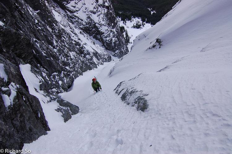 Mount Harvey – North Face Ramp Winter Climb
