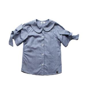 Blusa rayas cuello bebe