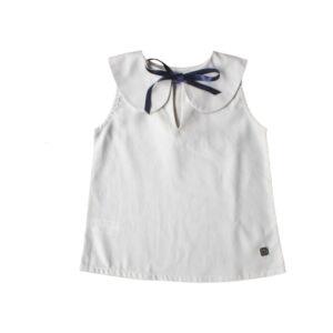 blusa cuello bebe marfil