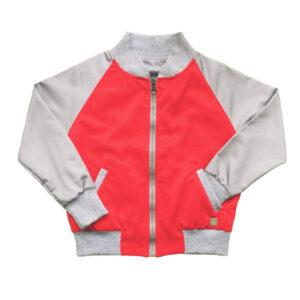 bomber reversible lado rojo