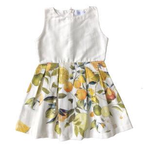 Vestido estampado frutal