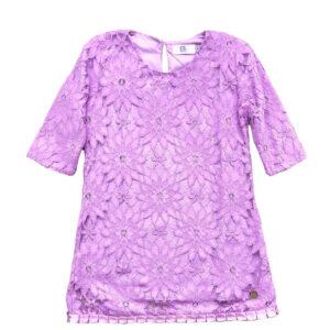 vestido encaje lila