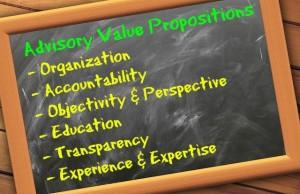 Advisory Value Proposition blackboard