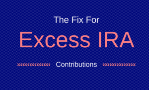 Excess IRA Contributions