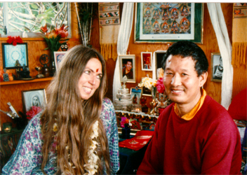 Prema & Lama Tenzin in her shrine room, Maui, Hawaii