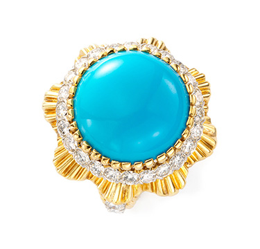 A Turquoise and Diamond Ring, by Van Cleef & Arpels, circa 1965