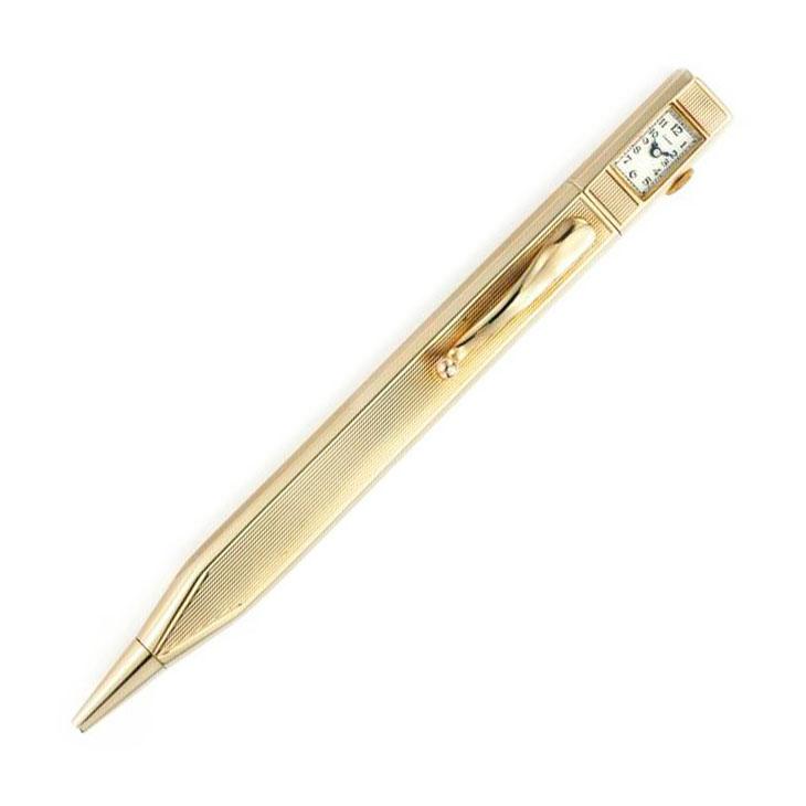 A Gold Clock Pencil, by Cartier, circa 1950