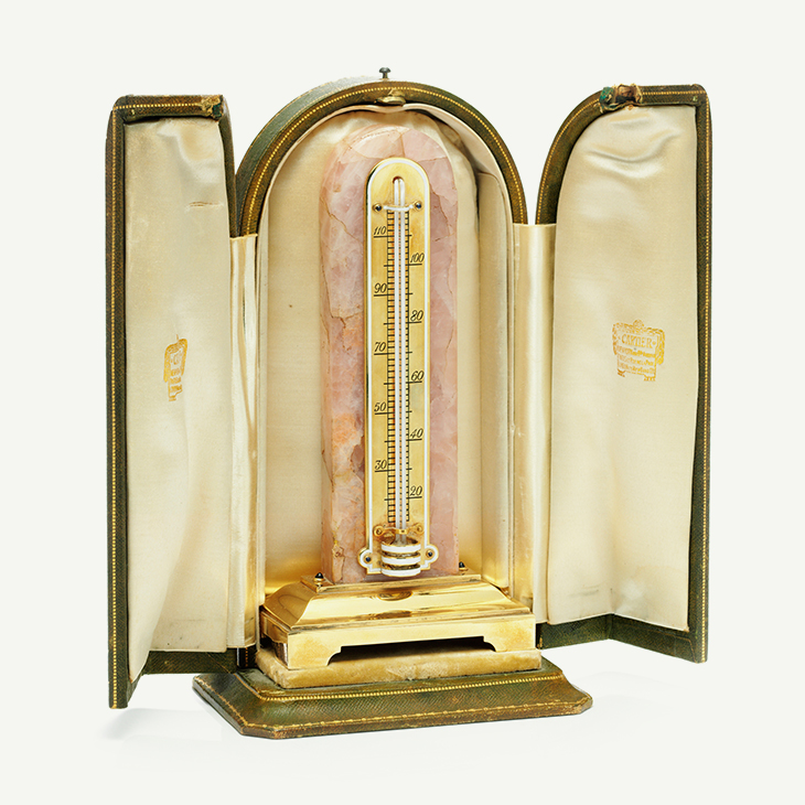 FD Tabletop   Cartier Desk Thermometer