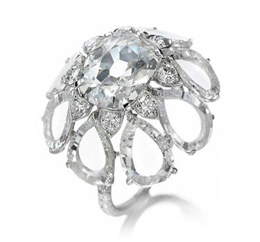A Diamond Flower Ring, By BHAGAT