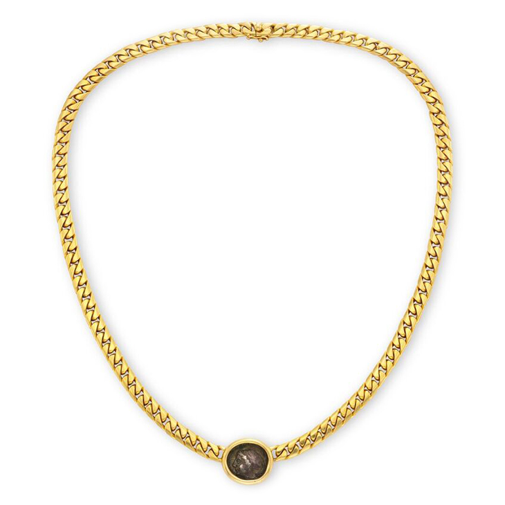 An Ancient Coin and Gold Necklace, by Bulgari