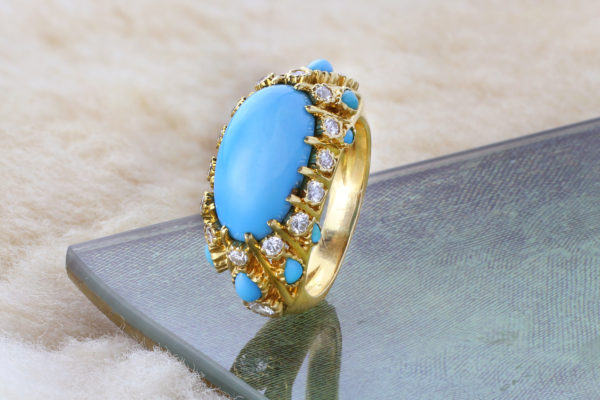 Cartier Turquoise And Diamond Ring