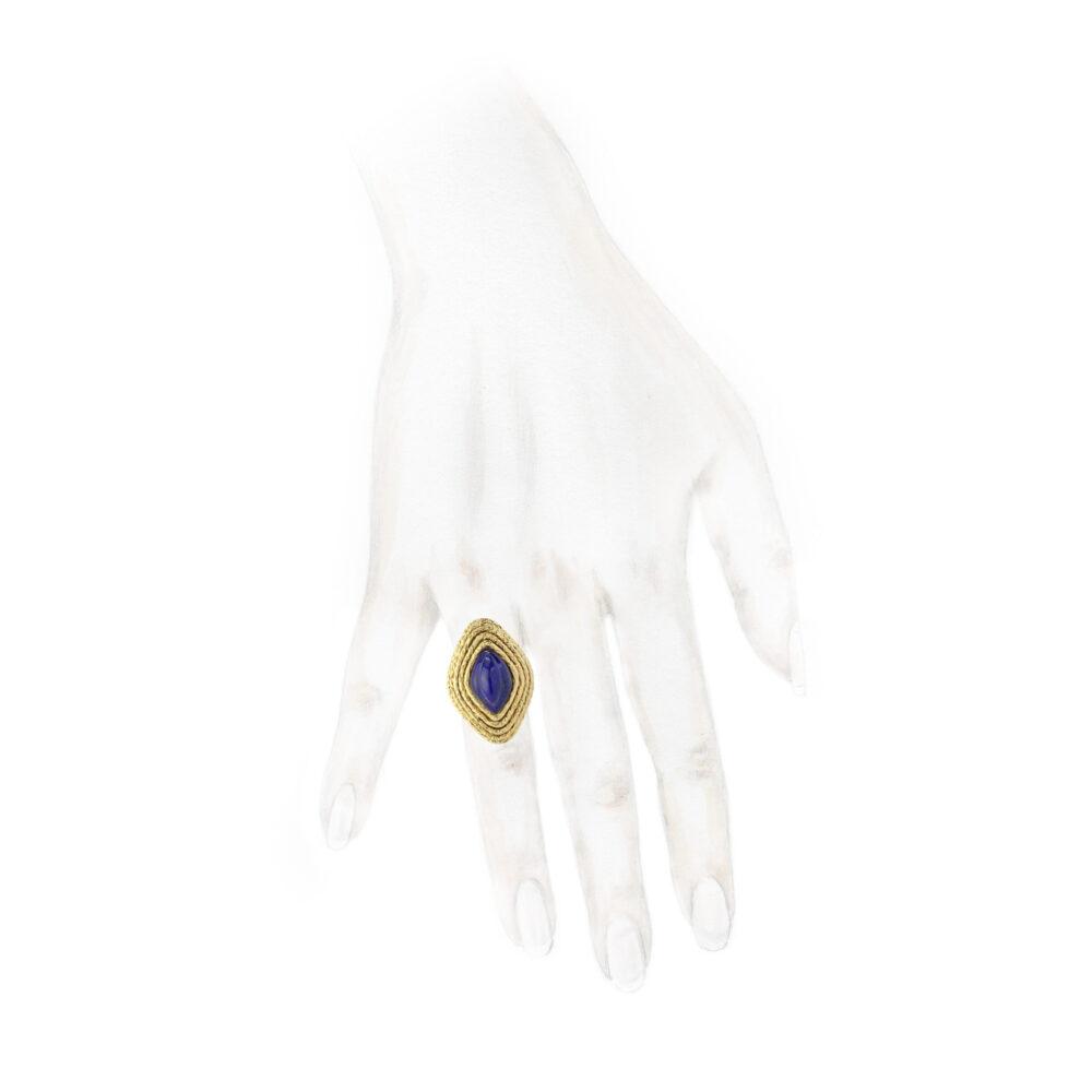 Van Cleef & Arpels Lapis Lazuli and Gold Ring