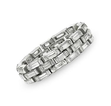 A Flexible Diamond Band Ring, by Cartier, circa 1940