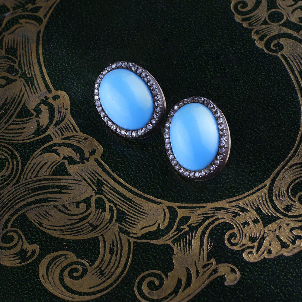 Ceramic and Diamond Earrings
