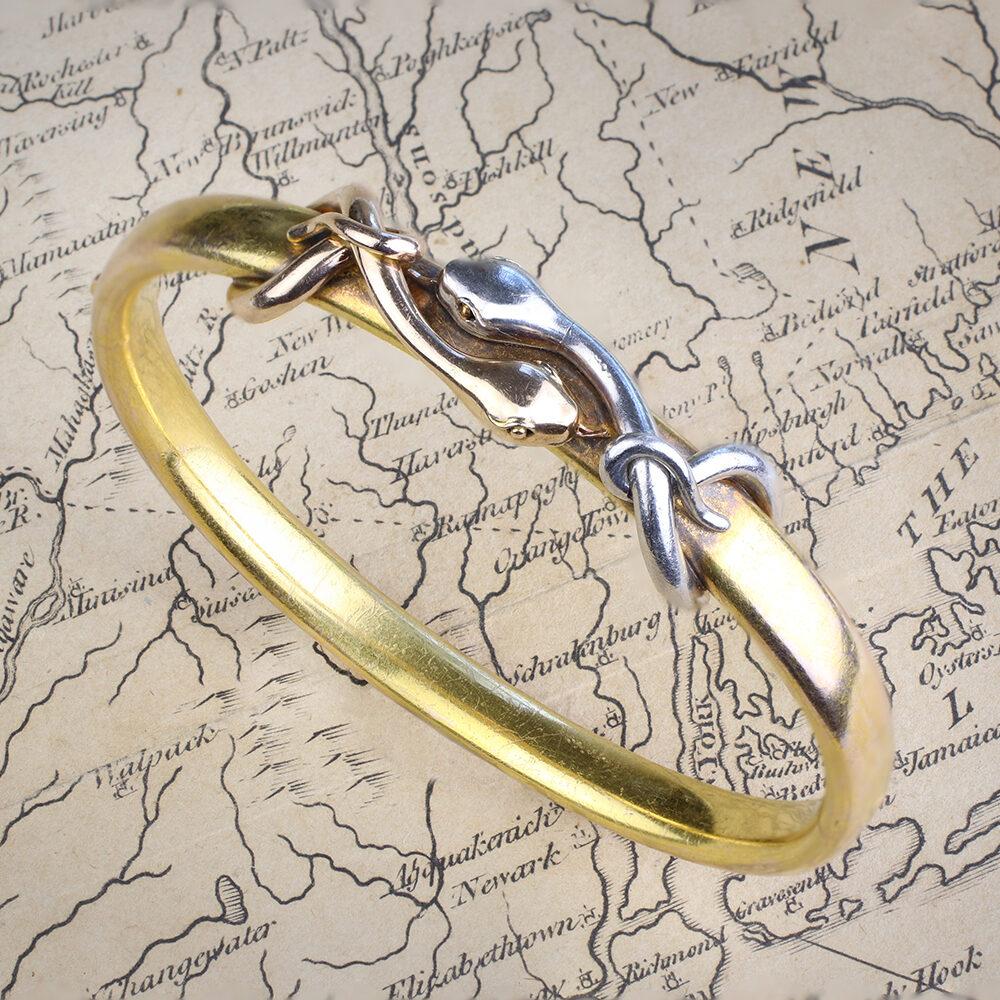 An Antique Snake Bangle Bracelet