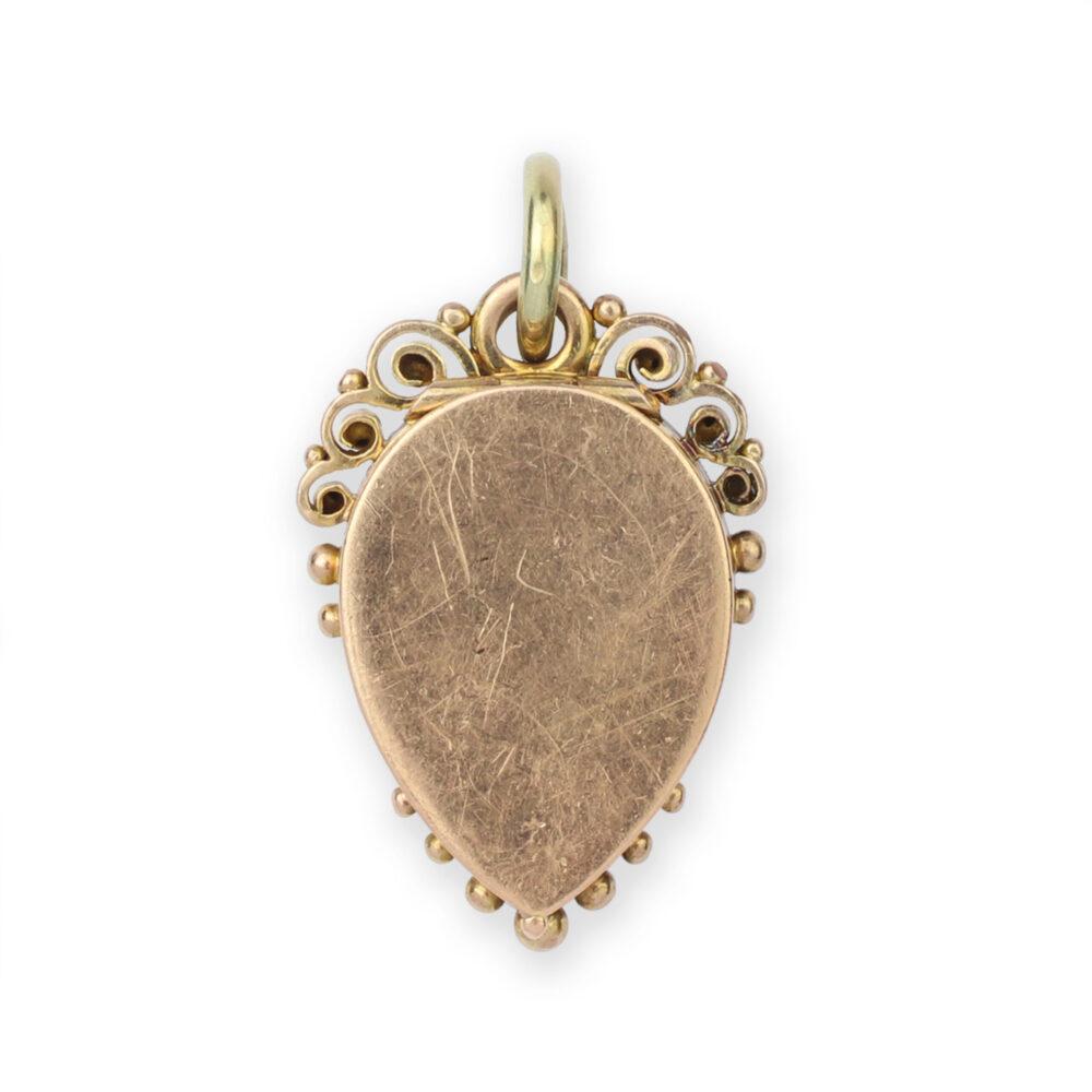 An Antique Multi-Gem, Diamond and Gold Locket Pendant