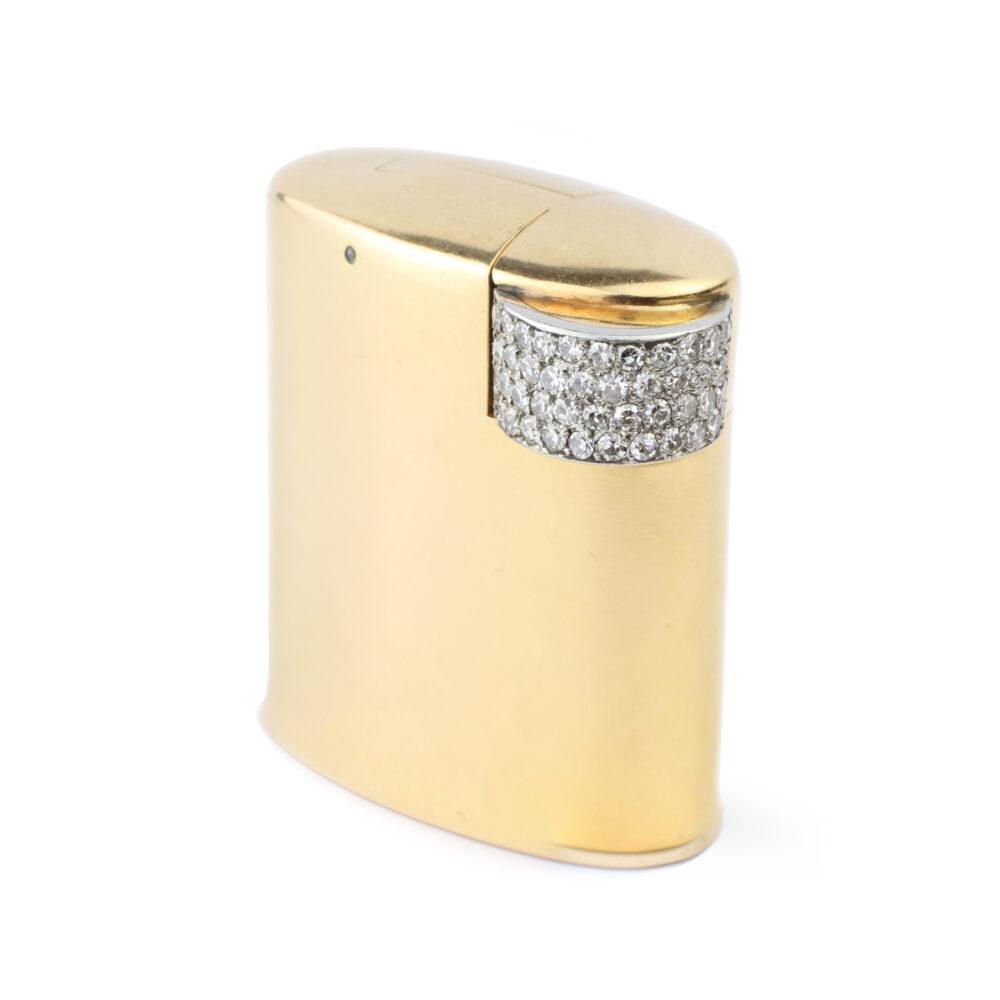 Cartier Gold and Diamond Lighter
