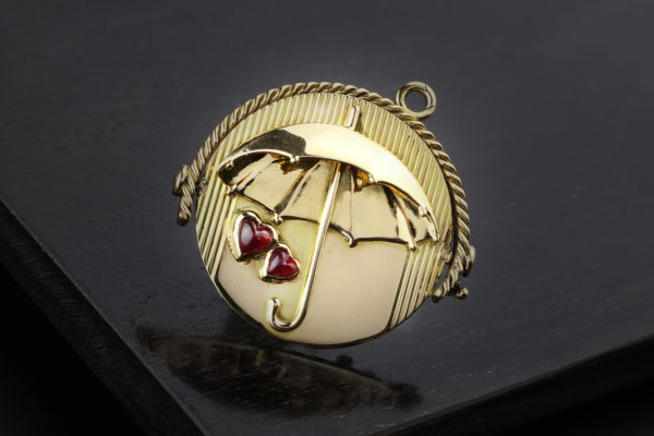 Tiffany & Co. Diamond, Ruby And Gold Spinning Pendant Charm