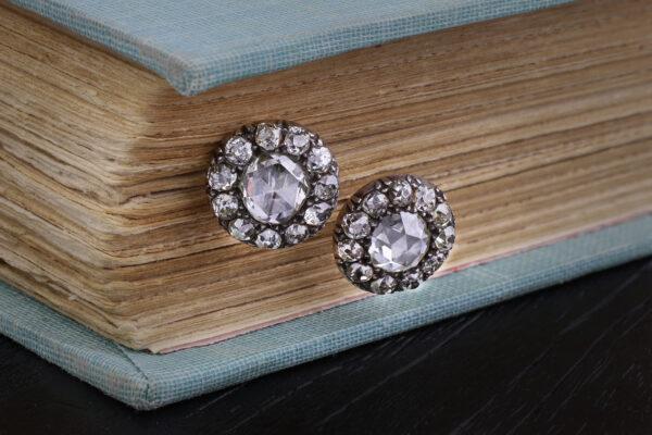 Rose-cut Diamond Stud Earrings