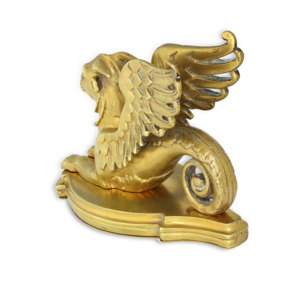 Tiffany & Co. Griffin Shaped Bronze Paperweight