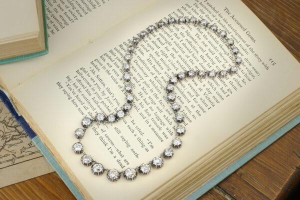 Antique Diamond Riviere Necklace