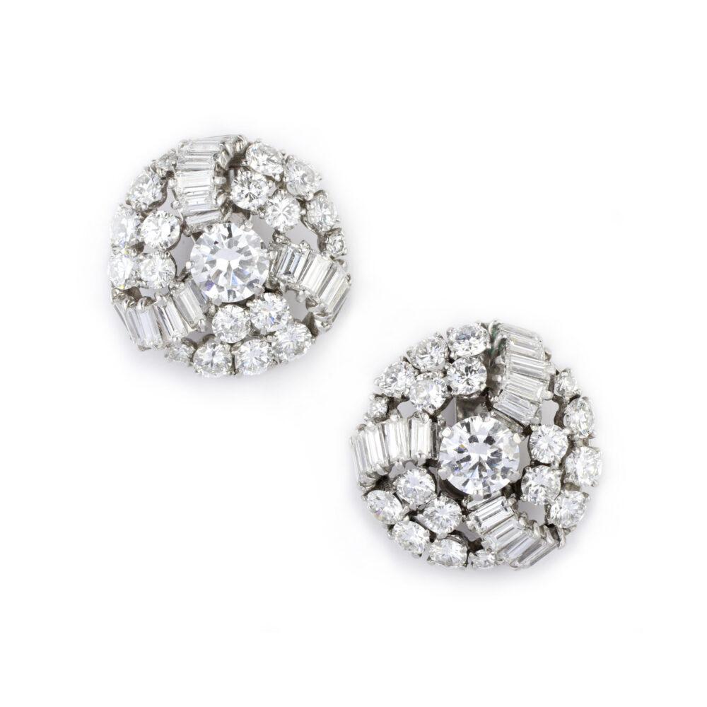 Boucheron Diamond Set Ear Clips