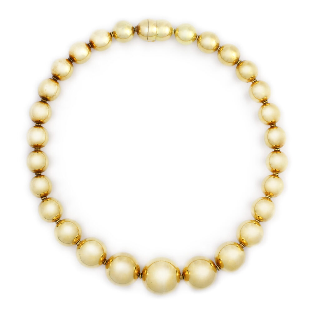 Hemmerle Gold Bead Necklace