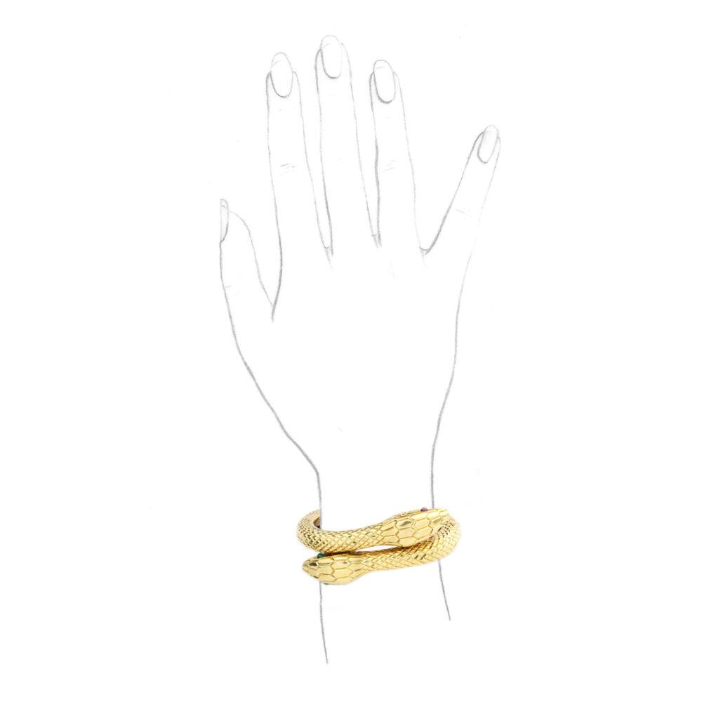 Cartier Multi-gem and Gold Bracelet