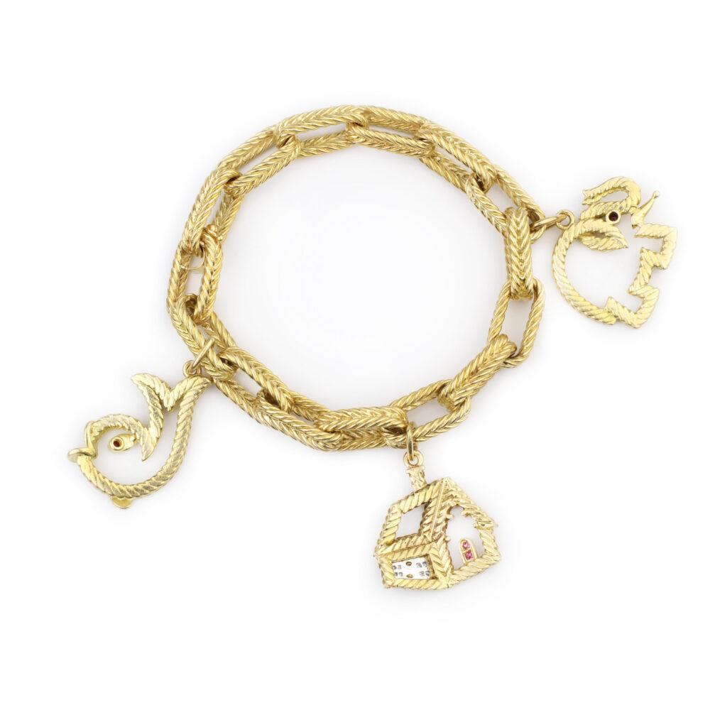 Van Cleef & Arpels Gold Charm Bracelet