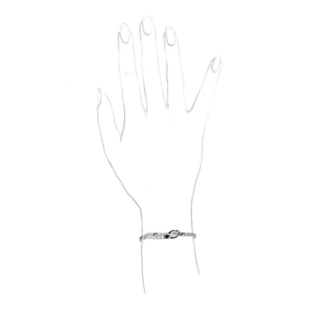 Oscar Heyman & Brothers Art Deco Onyx and Diamond Bracelet