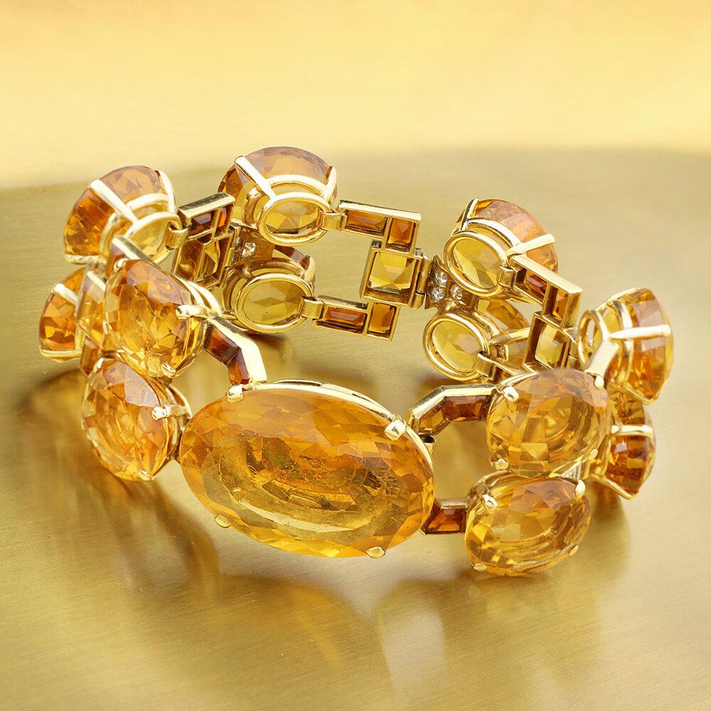 Cartier Citrine and Diamond Bracelet