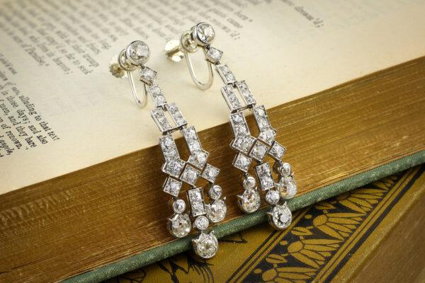 Cartier Diamond Set Ear Pendants