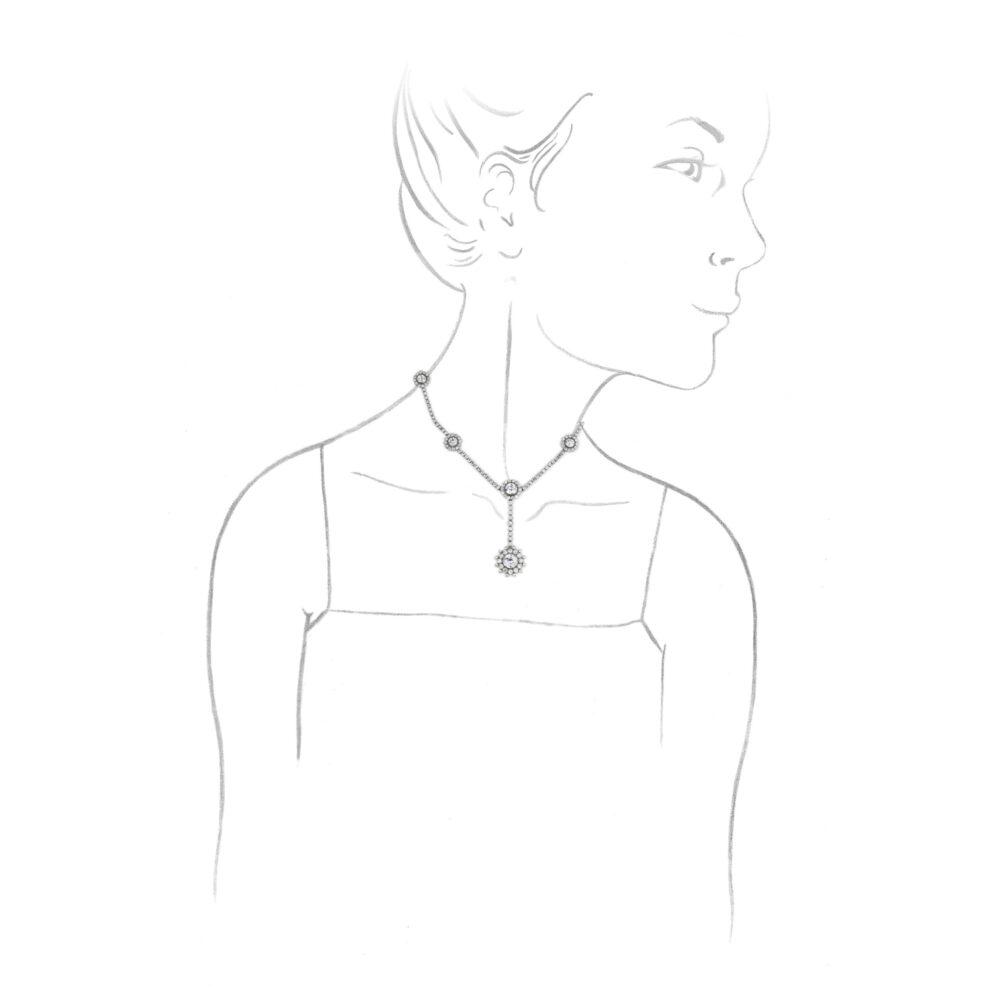 Cartier Belle Epoque Diamond Necklace