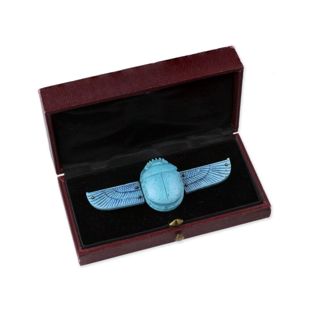 An Egyptian Revival Scarab Beetle Brooch