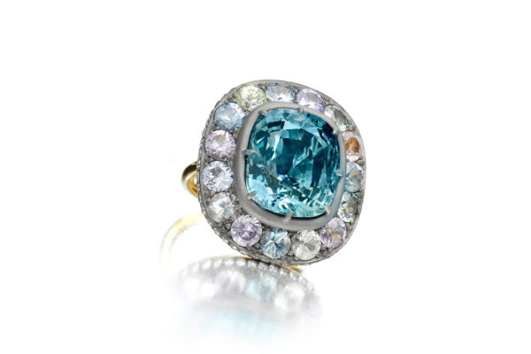 Colored Sapphire And Diamond Ring» Price On Request «