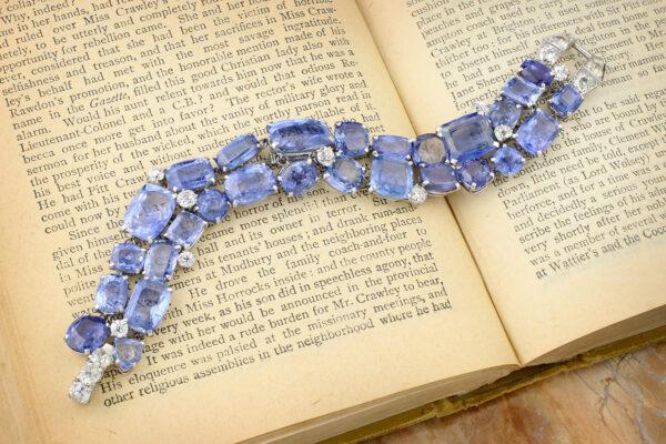 Cartier Platinum, Sapphire And Diamond Bracelet» Price On Request «
