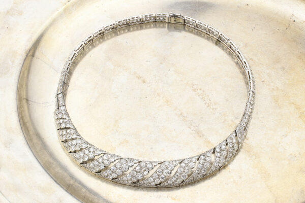 Cartier, An Art Deco Diamond, Platinum And Gold Necklace» Price On Request «