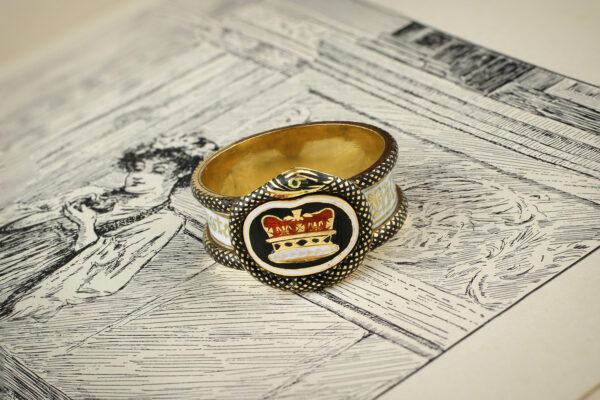 Enamel And Gold Mourning Ring Commemorating The Passing Of Princess Charlotte Of England
