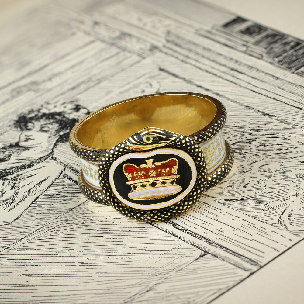 Enamel and Gold Mourning Ring