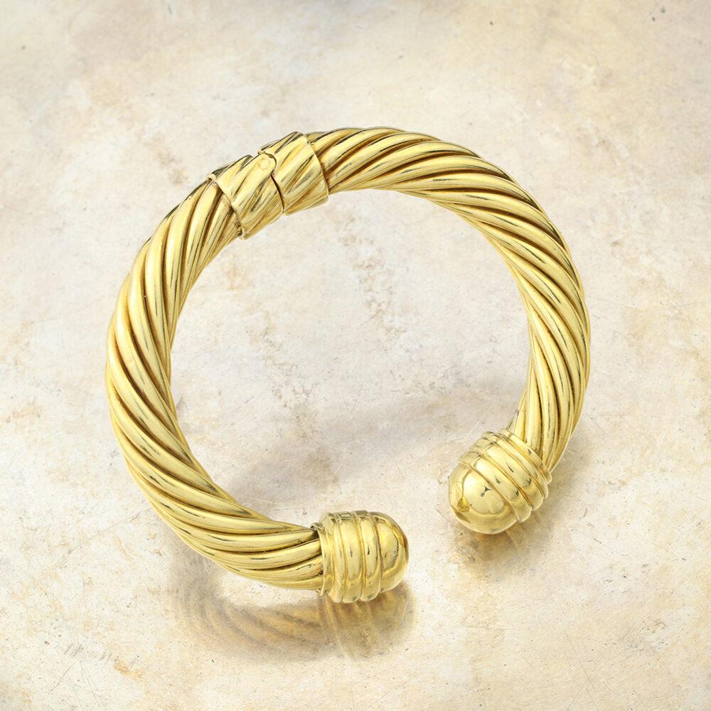 David Yurman 'Cable Classic' Gold Bangle