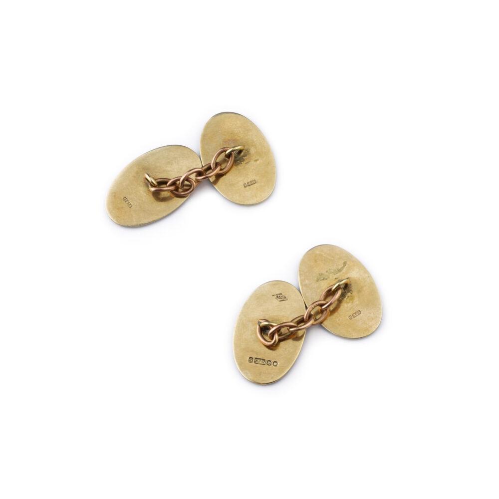 Enamel and Gold Cufflinks