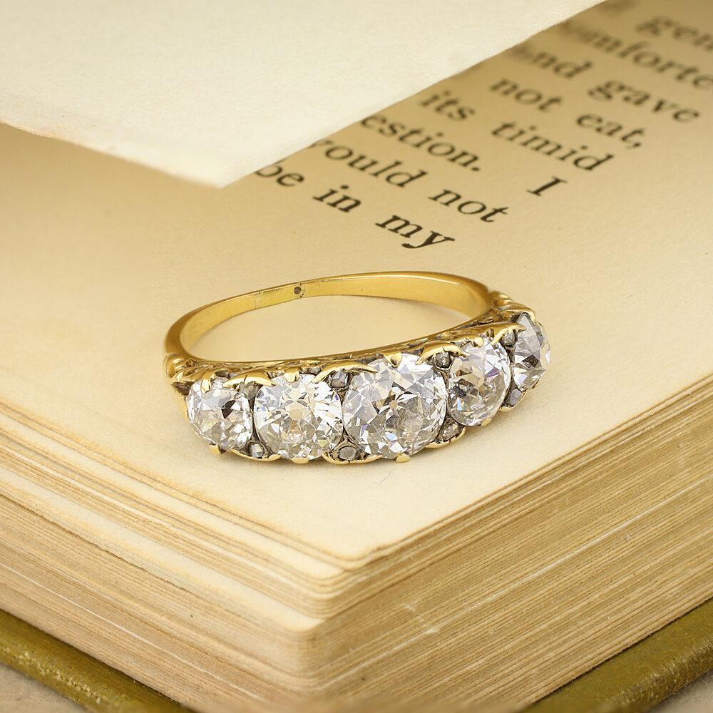 Antique Diamond Five Stone Ring