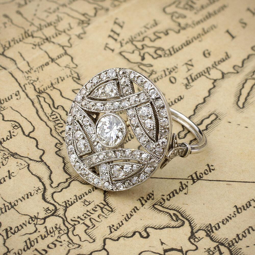 An Antique Diamond Plaque Ring